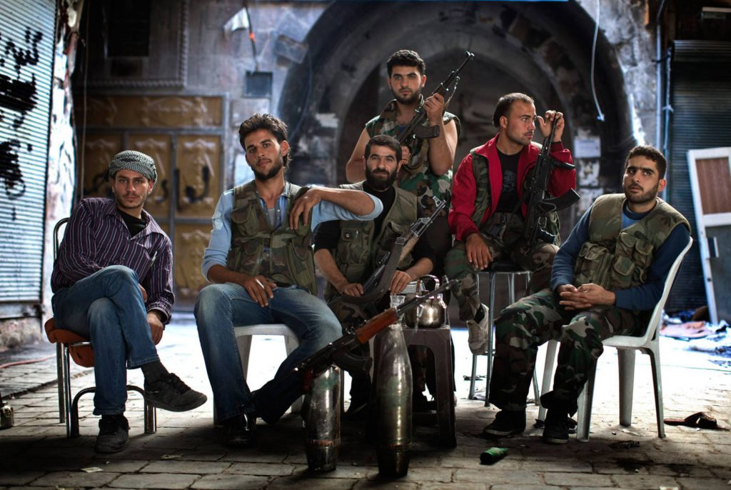 Soldater i Fria syriska armén. Foto: NICLAS HAMMARSTRÖM